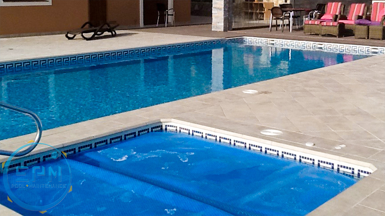 Pools maintenance and cover