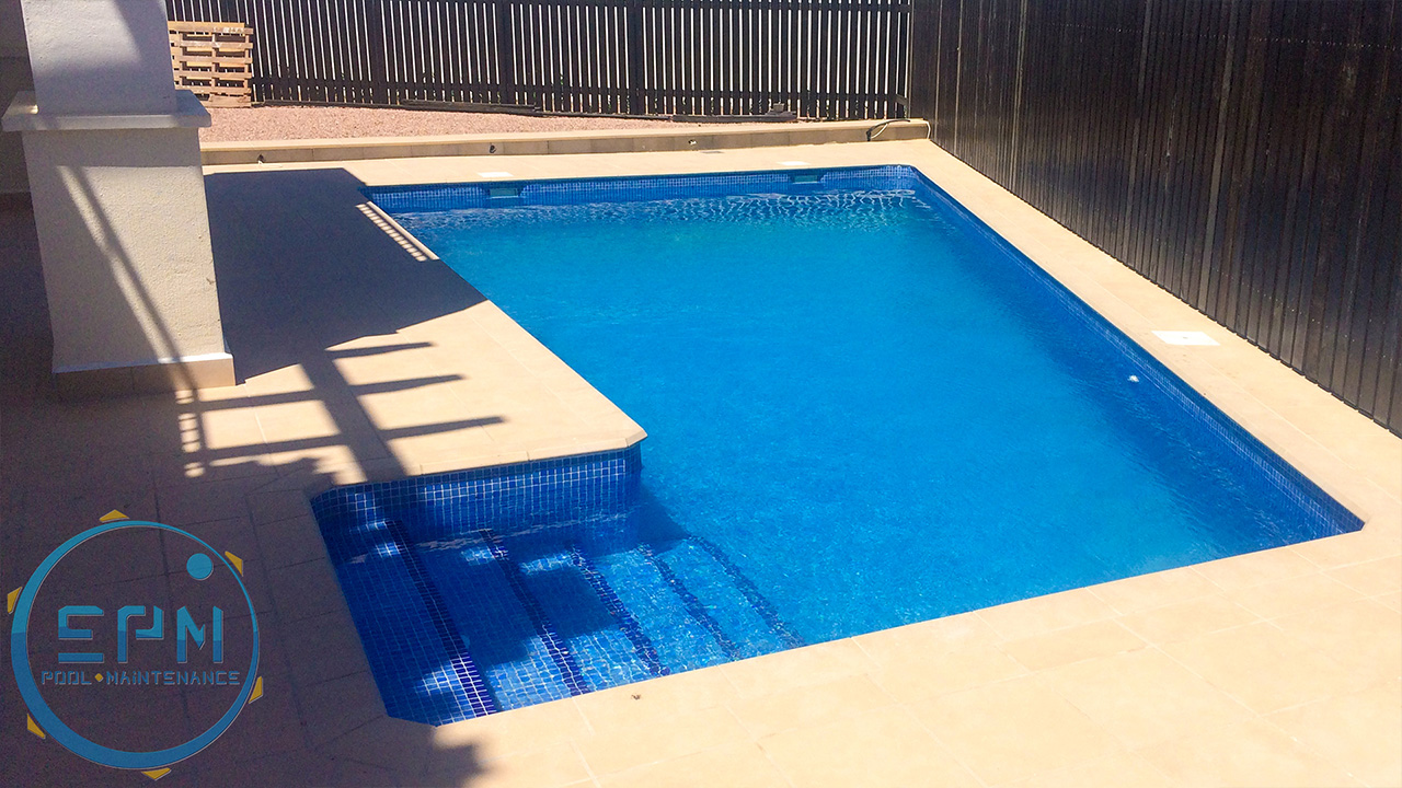 pools maintenance and steps